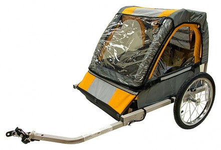 REVIEW: Halfords Double Buggy Child Bike Trailer – Shortnbike